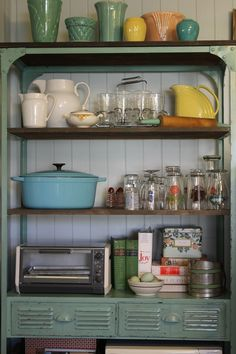 A well organized kitchen.