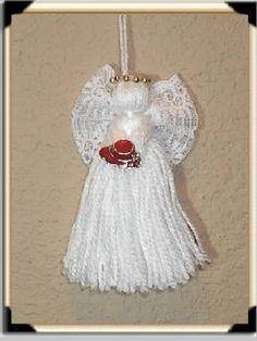 icu ~ Pin on crafts ~ Homemade Angel Christmas Ornaments Diy Angels, Handmade Angels, Handmade Ornaments, Handmade Gifts, Crochet Ornaments, Crochet Snowflakes, Christmas Angel Ornaments, Christmas Angels, Christmas Diy