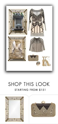 """""""Omaggio all'Art Deco"""" by gagenna ❤ liked on Polyvore featuring Mirror Image Home, Natasha Couture, House of Harlow 1960, Gucci, artdeco, nordstrom, zappos and crivelli"""