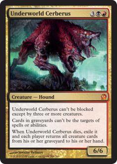 Underworld-Cerberus-x4-Magic-the-Gathering-4x-Theros-mtg-mythic-rare-card-lot
