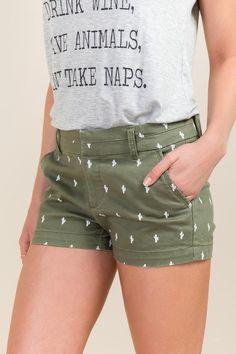 Tiny Cactus Harper Tab Shorts