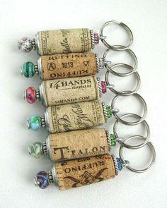 Cork key chains