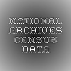 National Archives Census Data