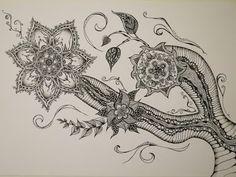 Zentangle Zeichnung #1 *Zeitraffer - YouTube