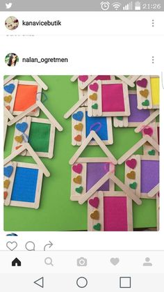 This Pin was discovered by bet Popsicle Stick Crafts, Craft Stick Crafts, Preschool Crafts, Fun Crafts, Diy And Crafts, Arts And Crafts, Paper Crafts, Mothers Day Crafts, Valentine Day Crafts