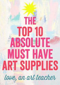 Gift List for art teachers or kids:  best art and craft supplies for kids