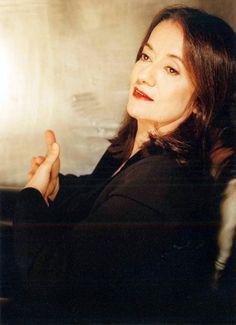 Portrait of the Greek composer Eleni Karaindrou (born 25-1-1939), famous for her…
