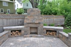 Outside Fireplace - Best Yard Services