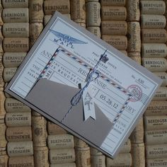 Vintage air mail invites