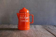 Vintage Knobler Instant Coffee Jar - Japan - OhDearWatson