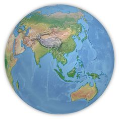 Example of a PowerGlobe for Illustrator in the map style Summit