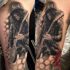 Tattoo of Slash by Christopher Henriksen