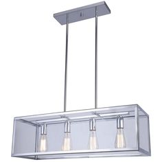 Canarm Lighting Langley 4 Light Rod Chandelier in Chrome Industrial Light Fixtures, Dining Room Lighting, Chandelier Ceiling Lights, Ceiling Lights, Exterior Light Fixtures, Light Fixtures, Buy Lights, Light, Chandelier