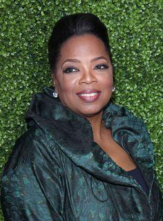 Oprah Winfreys classic, ponytail hairstyle