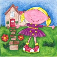 Introducing Gertie! Rhyming Words, My Books, Little Girls, Vibrant, Fish, Adventure, Illustration, Color, Toddler Girls