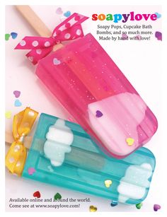 soap pops ~ cute way to make homemade bath soap to keep or give as a gift!  :D