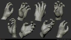 anatomy hand study , amruth raju on ArtStation at https://www.artstation.com/artwork/anatomy-hand-study