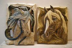 koniki Wood Burning Crafts, Wood Crafts, Wooden Art, Wood Wall Art, Cobra Art, Horse Illustration, Plaster Art, Wall Clock Design, Wood Carving Art