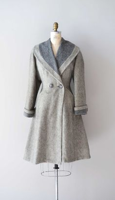 vintage 1940s FOND FAREWELL wool princess coat