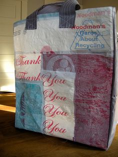 Turn your old plastic bags into pliable plastic fabric to be used for projects!
