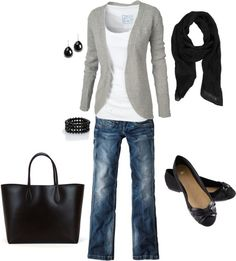 Gray & Black - Click image to find more Women's Fashion Pinterest pins
