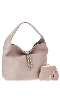 e9a7d030d37cbb Dooney and Bourke leather hobo logo lock and accessories in Oyster Hobo  Handbags, Purses And