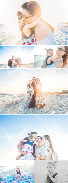 Beach Photographer in located in Santa Rosa Beach, FL | Gulf Shores Alabama Photographer | Lifestyle Family Session © Nichole Burnett Photography | Sun flare | Family posing ideas for the beach | #travelingphotographer