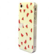 EUR € 3.99 - cas dur de modèle de pastèque pour iPhone 4 / 4S, livraison gratuite pour tout gadget!