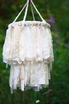 Lace Chandelier - Wedding - Newborn - Photo Prop - Vintage. $38.95, via Etsy.