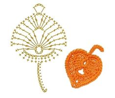 Aspen Leaf Crochet Flower Motifs / 아스펜 코바늘 플라워 모티브 – Crochet World Crochet Leaf Patterns, Crochet Doily Rug, Crochet Leaves, Crochet Fall, Crochet Diagram, Irish Crochet, Diy Crochet, Crochet Designs, Crochet Crafts