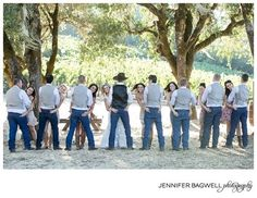 Country wedding photo pose