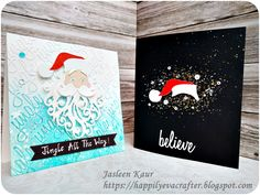 Santa cards for Sizzix by Jasleen Kaur