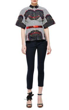 Stella Jean Ginestra Cotton Printed Shirt
