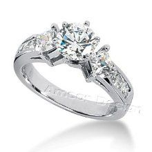 Great for engagement! White Gold Round & Princess Cut Diamond Promise Engagement Ring HI Color, Clarity) Wedding Ring Hand, Wedding Rings, Wedding Stuff, Wedding Ideas, Hand Ring, Sister Wedding, Wedding Bells, Princess Cut Engagement Rings, Round Cut Engagement Rings