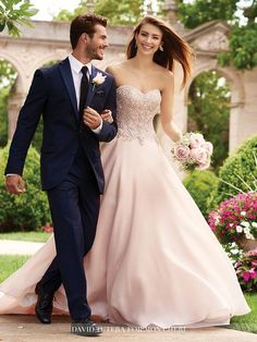 David Tutera - Adelina - 117266W - All Dressed Up, Bridal Gown-Bridal Gown-Mon Cheri-18W-Blossom-All Dressed Up - Bridal Prom Tuxedo