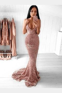 Backless V Neck Sequin Mermaid Prom Dresses Long Sexy Prom Dress – SheerGirl Glitter Prom Dresses, Best Prom Dresses, Backless Prom Dresses, Mermaid Prom Dresses, Cheap Prom Dresses, Prom Party Dresses, Tight Dresses, Evening Dresses, Dress Prom