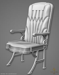 Airliner Chair - The Order 1886, Alec Moody on ArtStation at https://www.artstation.com/artwork/airliner-chair-the-order-1886