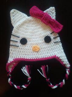 Hello kitty hat - crochet