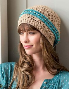 Slouchy crochet hat pattern free