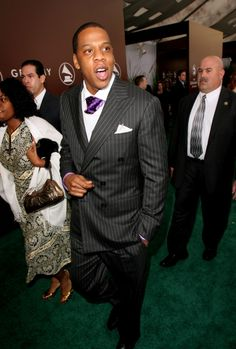 Jay-Z wearing Ralph Lauren at the 47th Annual GRAMMY Awards in 2005