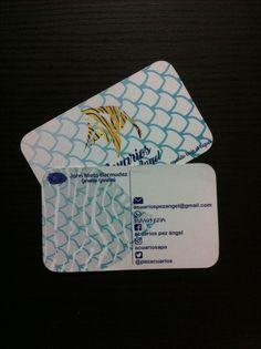 Diseño de logo, #diseño e #impresión de #tarjetas de presentación para #acuariospezangel. #stitch #haztupedidoya #tumejoropcion #moveyourcompany