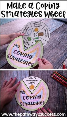 Make a coping strategies wheel with skills to help manage emotions. Kids make their own individualized wheels for activities like positive thinking, breathing, listening to music, yoga, and more.