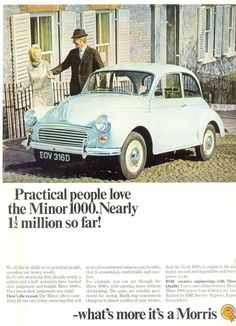 Car Camper, Campers, British Car, Morris Minor, Best Ads, Poster Ads, Car Advertising, Small Cars, City Photography