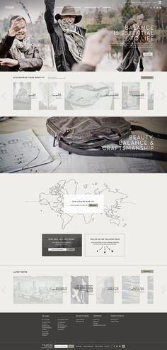 m0851 website by Catherine Marois, via Behance