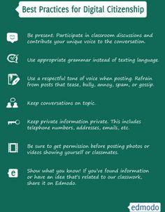 Free Digital Citizenship Posters via Free Technology for Teachers