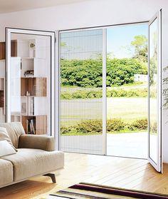 Moustiquaire plissée, moustiquaire porte-fenêtre et baie vitrée