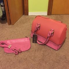 RCMC pink purse and small shoulder purse NEVER USED. Still has tagged attached! Comes with small shoulder purse also unused. Bags Totes