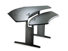 Personal Desk with Dual Surface High Range Seated Crank Adjustment | Biomorph Adjustable Computer Furniture