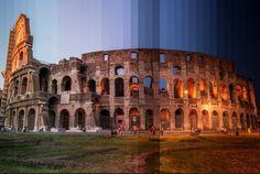 """""""Time Slice"""" è un sorta di collage digitale realizzato dal fotografo americano Richard Silver che mostra come grandi città e importanti monumenti di tutto il mondo cambino aspetto dal giorno alla notte. Per realizzarle, Silver ha scattato 36 foto di ogni soggetto in d"""