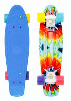 Tie dye penny board